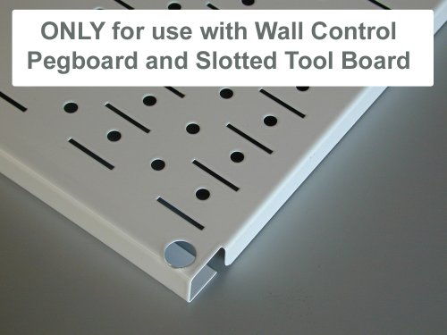 Wall Control Pegboard Spray Can Holder Bracket and Aerosol Can Organizer for Wall Control Pegboard and Slotted Tool Board – Red