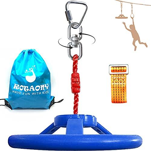 ROTAONY Ninja Wheel Obstacle for Kids, Ninja Line Attachment, Jungle Gym Swing Wheel, 360° Swivel Monkey Wheel for Kids Playground Backpyard