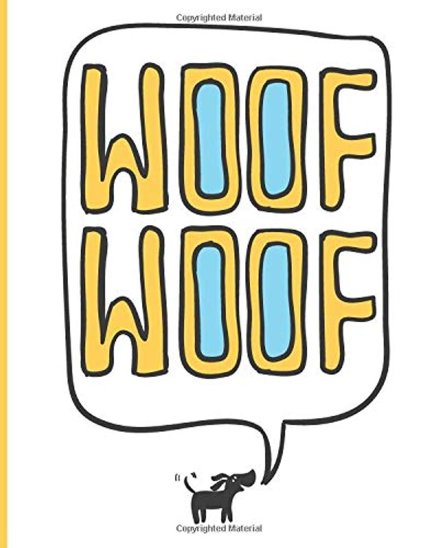 干ばつ健康ガチョウBlank Lined Journal Notebook: Writing Notes and Journaling | Woof Woof Barking Dog Cover