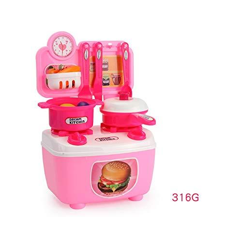Voiture d'enfants rc,SYXX Jouets Cuisine Mini éducatifs for enfants, le développement intellectuel Early Education Set de jouets Cuisine, Simulation Happy Jouets de cuisine, bricolage Puzzle Toy Set,