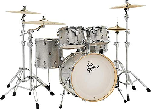 Gretsch Drums Drum Set, Silver Sparkle (CM1-E825-SS)