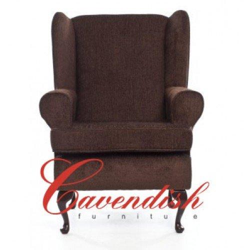 Cavendish Furniture Deep Asiento Silla ortopédica, marrón, 19Pulgadas