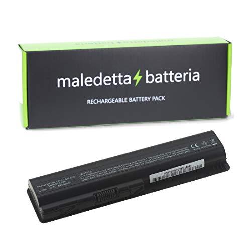 Batteria POTENZIATA 5200mAh 10,8V per portatile HP-compaq Presario CQ40, CQ40-100, CQ40-100 CTO, CQ45, CQ45-100, CQ50-100, CQ60, CQ60-100, CQ60-200, CQ61, CQ61-100, CQ61-200, CQ61-300, CQ61-310, CQ61-400, CQ70, CQ70-100, CQ70-201, CQ71