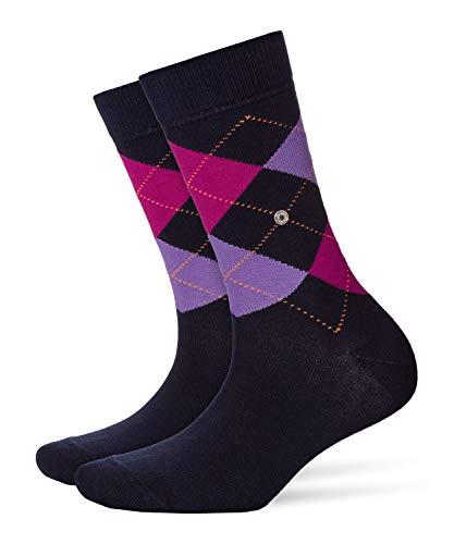 BURLINGTON Damen Socken Queen - Baumwollmischung, 1 Paar, Blau (Marine 6120), Größe: 36-41
