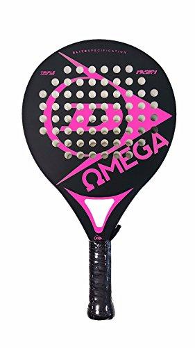 Dunlop OMEGA - Pala de pádel 38mm, 2017, nivel iniciación, color fucsia