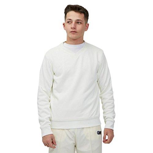 Gunn & Moore Herren Teknik Sweaters Pullover, Weiß/cremefarben, S (Jungen)