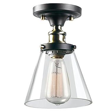 Globe Electric 65380 Mercer 1-Light Flush Mount Ceiling Light