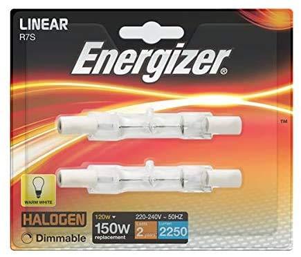 2x ENERGIZER 120w = 150w 78mm energiesparender Halogenstab R7s Flutlicht