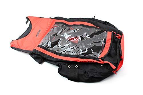 KTM Allwetter Überzug Abdeckung für Fahrrad Anhänger Carry More II schwarz/orange