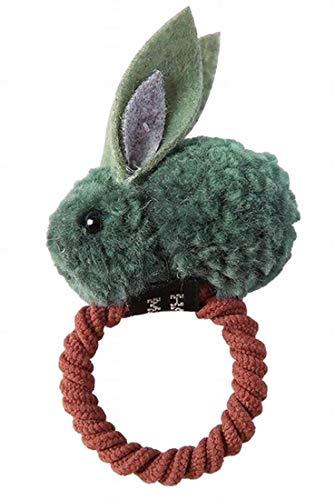 Plus Nao(プラスナオ) ヘアゴム 髪ゴム ヘアクリップ レディース 髪飾り ヘアアクセサリー 髪留め ヘアピン うさぎ ウサギ もこもこ 立体的 - 6グリーン×ヘアゴム