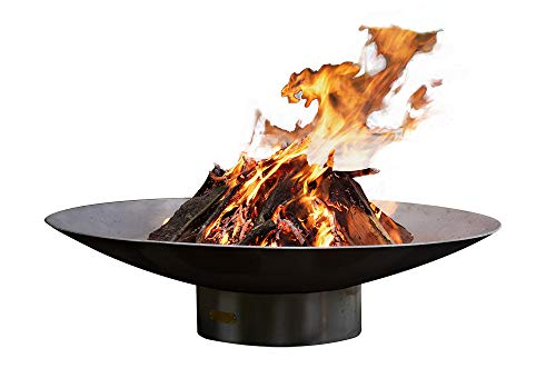 Best Buy! Fire Pit Art Bella Vita 46 Inch Natural Gas Fire Pit Bowl Outdoor Patio Furniture Steel Fi...