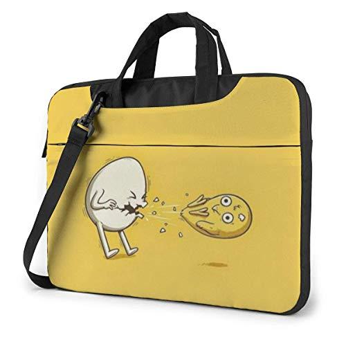 15.6″Durable Hombro Mensajero Bolsa maletín PC Huevo Divertido Moda Impermeable Ordenador Portátil/portátil/Tablets