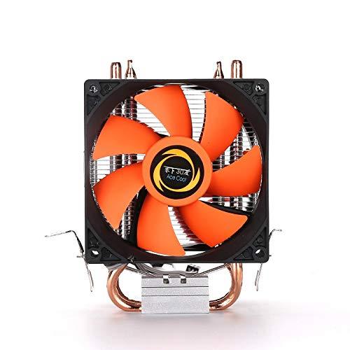 elegantstunning Dubbele CPU Koeler Ventilator Dubbele Koper Buis Sterke Geat Dissipatie Multiplatform Computer Host Radiator