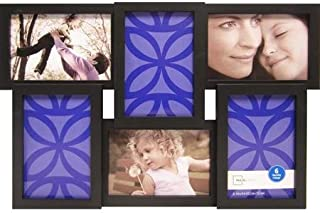 Mainstays 6-opening Collage Picture Frame, Black