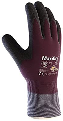 MaxiDry Zero PIP - 56-451 Zero - Large - 1/Pair 56-451 Cold Condition Work Glove with Thermal Lining and Full Double-Dipped Nitrile Coating (1, Large)