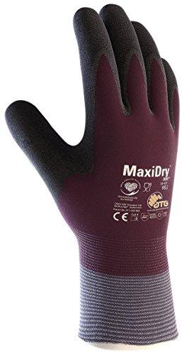 MaxiDry Zero 56-451 - Guanti da lavoro con rivestimento termico e rivestimento in nitrile a doppio strato (1, extra large)