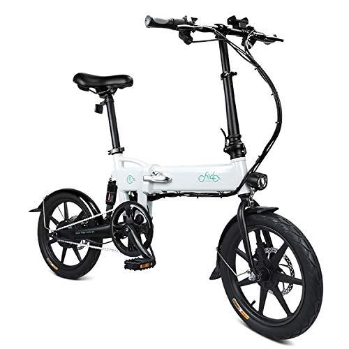 Los Neumáticos De Bicicleta Eléctrica Plegable 250Watt Motor Ebike, De 16 Pulgadas...