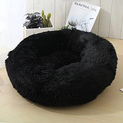 Tivivose Super Soft Dog Bed Sofa Plush Cat Mat Dog Beds For Labradors Large Dogs Bed House Pet Round Cushion Best Dropshipping (Color : Black, Size : Xxl 100cm)