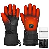Electric Heated Gloves for Men and Women, 3 Heating Levels Rechargeable Electric Heated Gloves with Battery for Hunting, Fishing, Lightweight Heating Touchscreen Skii Gloves for Camping, Driving