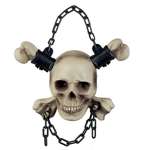Boland Figura Decorativa de cráneo encadenado, 72096