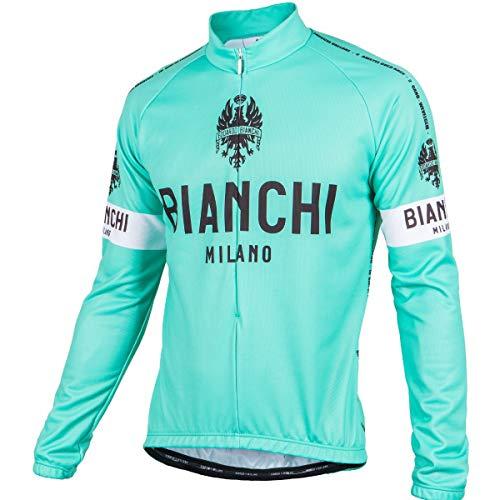 BIANCHI MILANO - Maglia Termica a Maniche Lunghe Modello Leggenda Colore 4300 Celeste Fluo, Taglia L