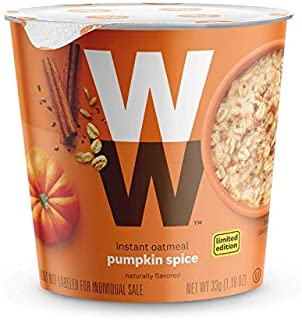WW Pumpkin Spice Instant Oatmeal - 3 SmartPoints - 2 Boxes (8 Count Total) - Weight Watchers Reimagined