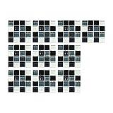 Packung mit 10 selbstklebenden 3D-Mosaik-Quadratfliesen, Selbstklebende wasserdichte Mosaik-Wandfliesenaufkleber, Gel-Kristallfliesenaufkleber für die Heimküche Badezimmer Wand- und Bodendekoration