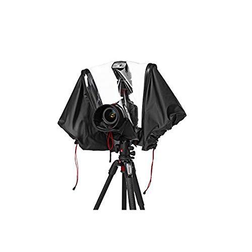 Manfrotto MB PL-E-705 Pro-Light Cubierta Impermeable y Transparente para Cámaras DSLR Reflex con Lente Profesional y Flash, Protege del Polvo y la Lluvia, para Fotógrafos - Negro/Gris Carbón