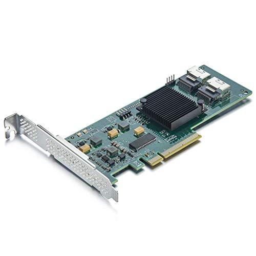 ipolex LSI 9211-8I Internal SAS/SATA Raid Controller Host Bus Adapter, LSI SAS2008 Chip, PCI Express x8-Port 6Gb/s, High Profile & Low Profile