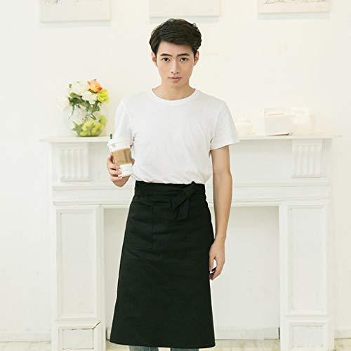 YLCJ rok van katoen, Koreaanse stijl, voor mannen, van katoen, rok voor werk (kleur: zwart)