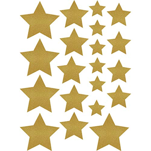 Teacher Created Resources Gold Shimmer Stars Accents - Assorted Sizes (TCR8868)