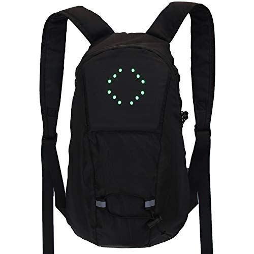 Enjoyyouselves Reflective Backpack, RC USB Rechargeable Reflective Backpack, Bicycle Backpack, Accessor with Light Remote Control for Night Cycling