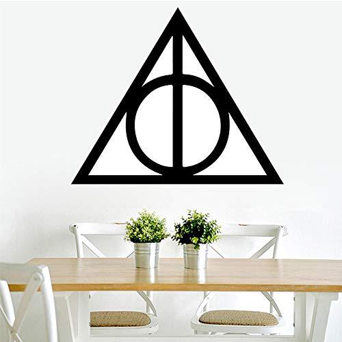 Trigon muster wandkunst aufkleber wandaufkleber wandbild für wohnkultur wohnzimmer schlafzimmer diy wasserdicht dekoration zubehör 43 cm x 50 cm
