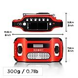 Duronic Apex Radio AM/FM, wiederaufladbar – Solarradio – Kurbelradio – Solarenergie, Handkurbel und USB-Ladegerät – mit Radiowecker und Taschenlampe - 3