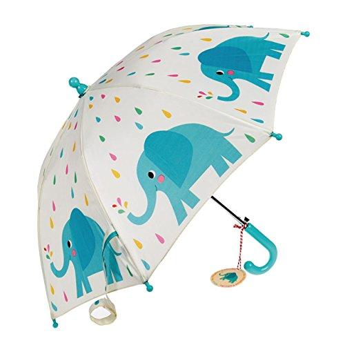 Los niños de la primavera Cargado paraguas–elección de diseño multicolor Elvis The Elephant