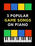3 Popular Game Songs on Piano: Super Mario Bros, Megalovania, Tetris: The Best Retro Game Themes   EASY Piano Sheet Music for Beginners. Teach Yourself How to Play. Video Tutorial, BIG Notes