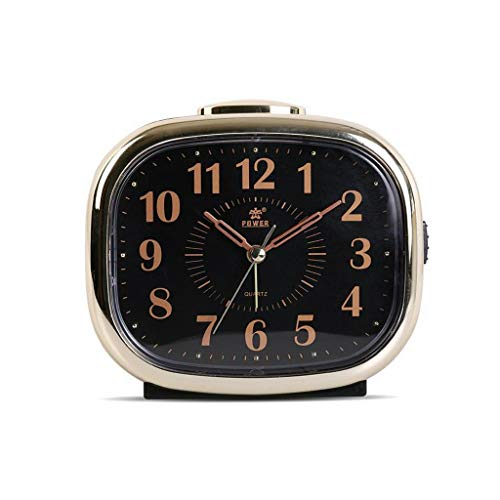 Despertador JXLBB Rectángulo Negro Moda Súper silencioso Sueño Perezoso Noche Simple Luz Dormitorio Dormitorio Reloj de Cuarzo
