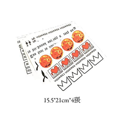 Adesivi per tatuaggi Adesivi impermeabili di lunga durata con smiley GD adesivi con adesivi a croce