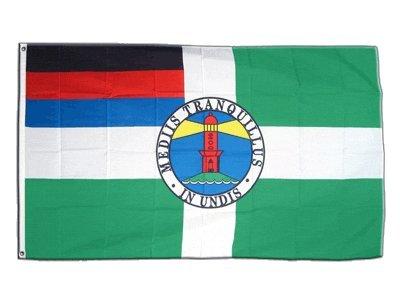 Flaggenfritze Fahne/Flagge Deutschland Stadt Borkum + gratis Sticker