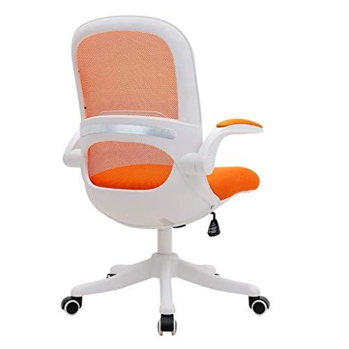 LWW Stühle, Schreibtischstuhl Schwenkstuhl Executive Stuhl Bürostuhl Gaming Stuhl Gepolsterte Armlehnen Mit Neigungsfunktion Rollen,Orange