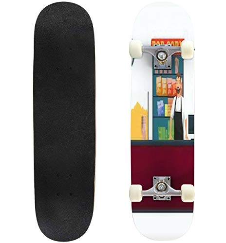 cheap A cinema with vendors selling groceries, snacks and drinks. Complete Longboard Skateboard 8 …