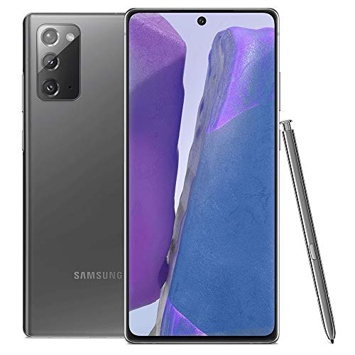 "Samsung Galaxy Note 20 256GB N980F/DS S-Pen 6.7"" Triple Camera GSM LTE Factory Unlocked Smartphone (International Version) (Mystic Gray)"