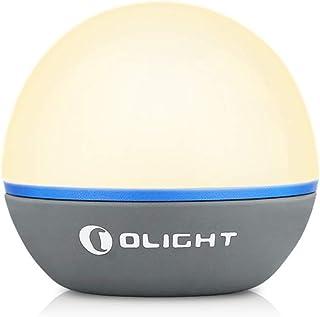 OLIGHT(オーライト) Obulb ベッドサイドライト USB充電式 ナイトライト LEDランタン 間接照明 マグネット式 調光調色 実用点灯56時間 IPX7防水 誕生日プレゼント 雰囲気作り SOS信号灯 装飾 グレー