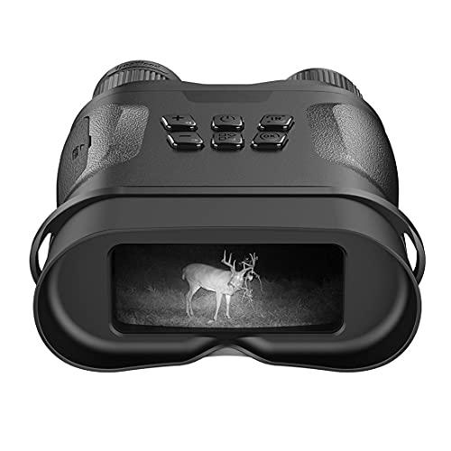 VDSOIUTYHFV Binocolo per Visori Notturni, Occhiali per La Visione Notturna A Infrarossi Digitali HD con Scheda di Memoria da 32 GB per Individuare L'oscurità di Sorveglianza della Caccia
