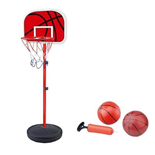 YuanDian Kinder Basketballkorb Portable Verstellbarer Basketballbrett 110-175cm Basketballständer Drinnen Outdoor Garten Freistehend Mini Basketballkörbe Boards Basketballanlage Set 175cm 2 Balls