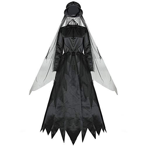 N/F Cosplay Fantasma Mujer Fantasma Bruja Disfraz Zombi Vampiro Novia Parca Disfraz...