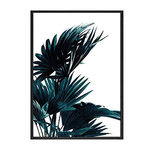 HD groene plant van boombladeren poster en prints botanische motief foto op de muur decor voor thuis Unframe 32x39inch (80x100cm)