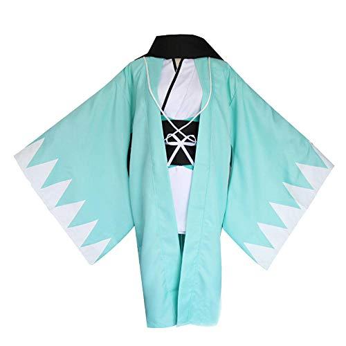 Nobranded Cosplay Anime Fate Grand Order Sakura Saber Okita Souji Disfraz de Cosplay Kimono Ropa Interior Uniformes para la Fiesta de Halloween