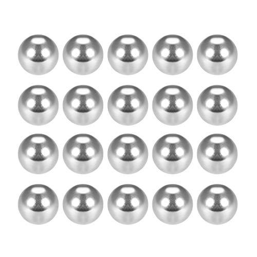 Sourcingmap - Bolas de rodamiento de bolas de acero cromado