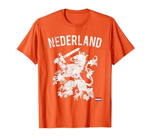 Nederland Maglia Storica da Calcio Olanda Holland Dutch Lion Maglietta